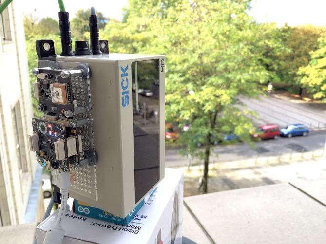 SICK Laserscanner mit Tinkerforge IMU und GPS