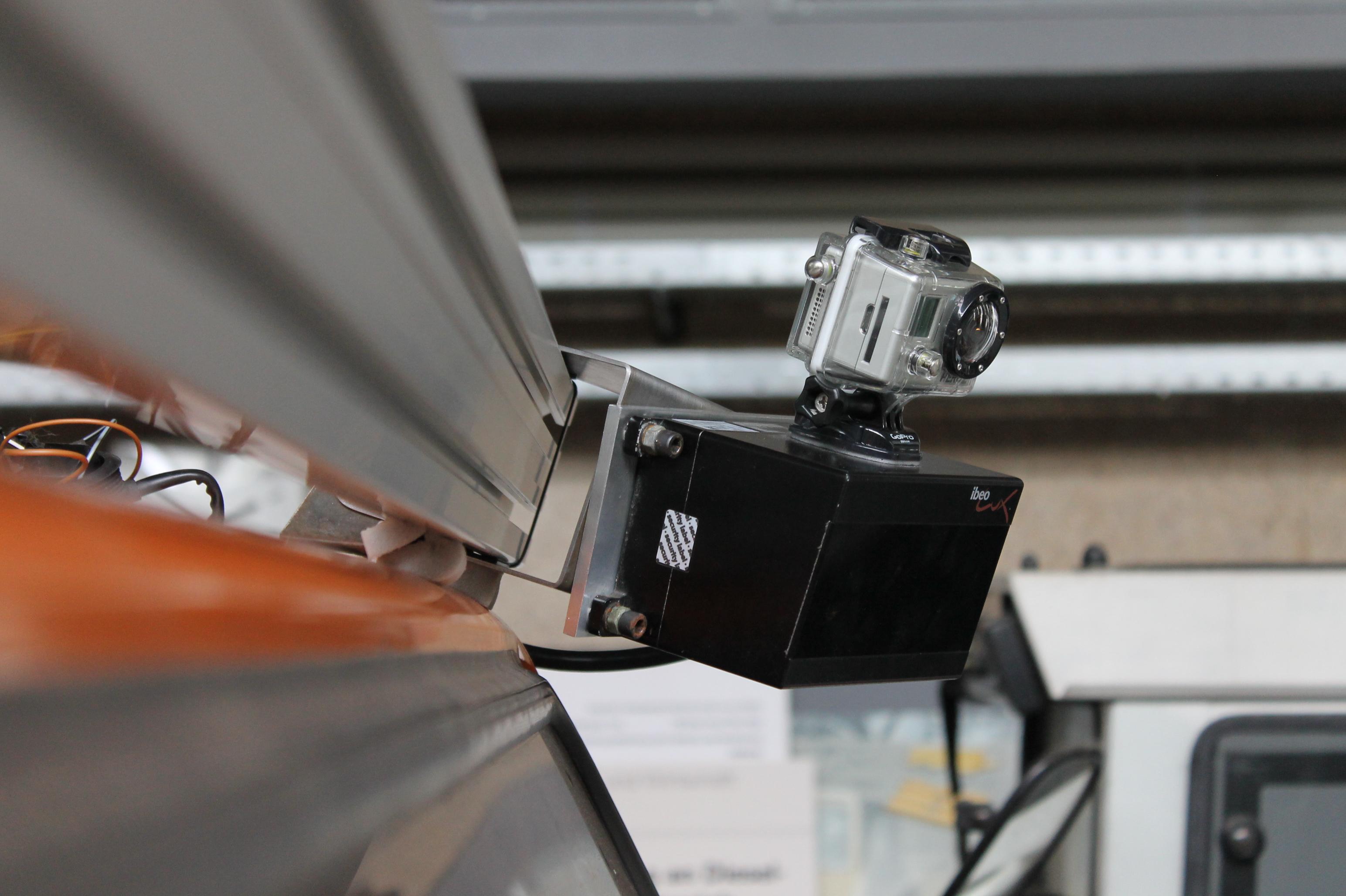ibeoLux Laserscanner und GoPro Videokamera
