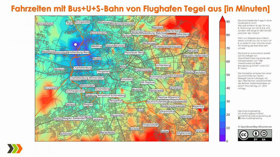 Tegel-Traveltime-Map