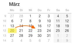 Kalender-3Tage-Bestellzeit